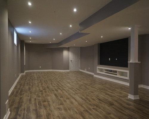 photos et id es d co de sous sols modernes budget mod r. Black Bedroom Furniture Sets. Home Design Ideas