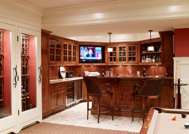 Traditional Basement by Country Club Homes