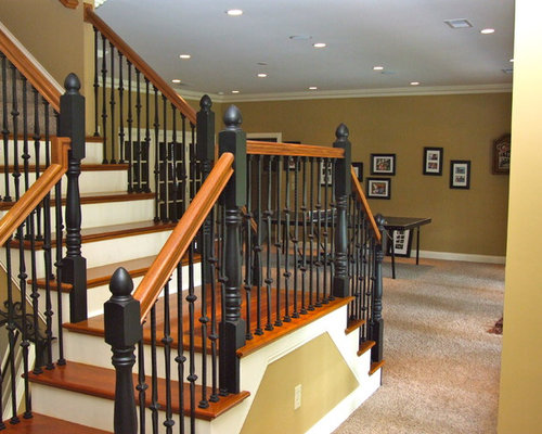Two toned staircase ideas pictures remodel and decor - Basement stairs ideas ...
