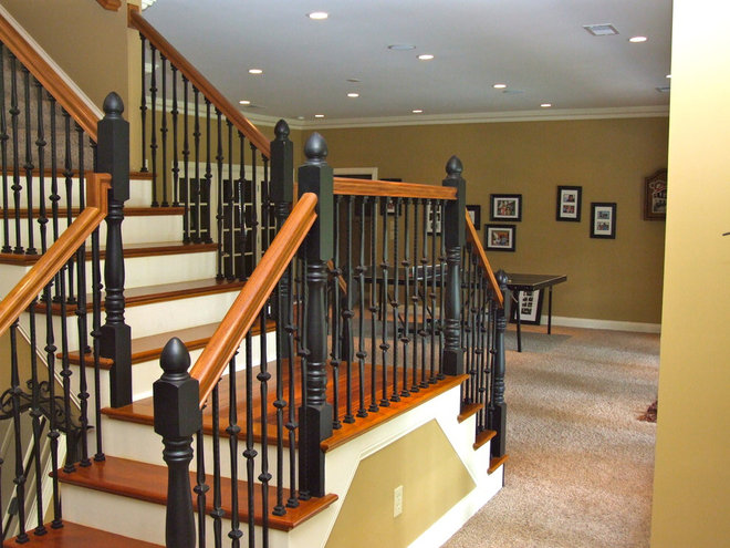 Traditional Basement by Pickett Design & Building Services