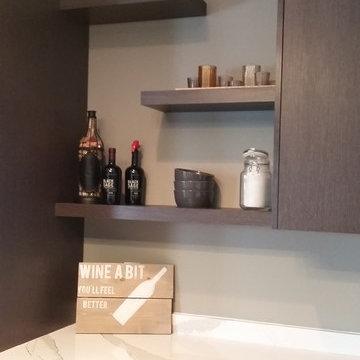new entertainment kitchen area