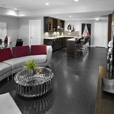 Transitional Basement by Kimberley Homes