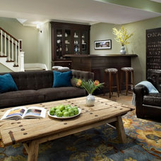 Traditional Basement by Molly Quinn Design