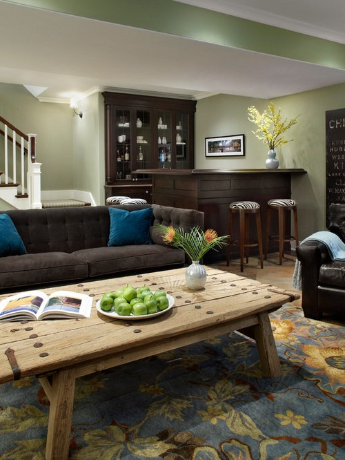 keller mit gr ner wandfarbe ideen design bilder houzz. Black Bedroom Furniture Sets. Home Design Ideas