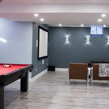 Nobleton Basement - Mini bar, movie theater and Pool table