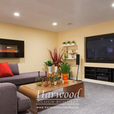 Contemporary Basement by Harwood Design Builders Ltd.