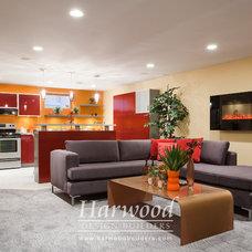 Modern Basement by Harwood Design Builders Ltd.