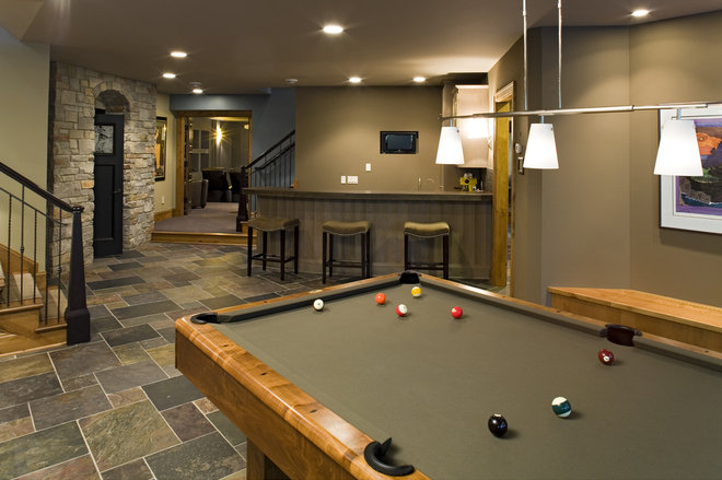 Traditional Basement by Bob Michels Construction, Inc.
