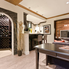 Contemporary Basement by Total 360 Photography