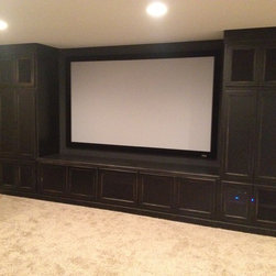 Traditional Projector Screen Tv Large Size Basement Design Ideas Pictures Remodel And Decor