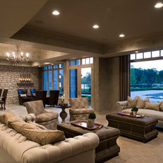 Traditional Basement by Tutto Interiors