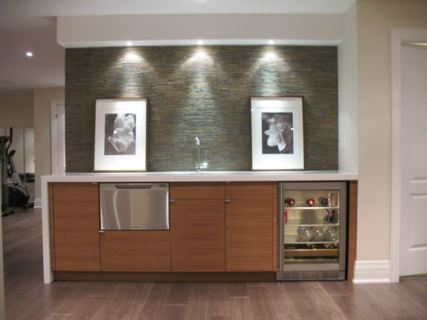 Contemporary Basement by Stacy McLennan Interiors