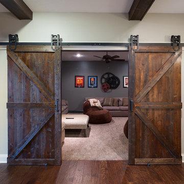 Old World Basement Barn Doors