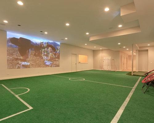 Soccer Field Basement Design Ideas, Pictures, Remodel u0026 Decor