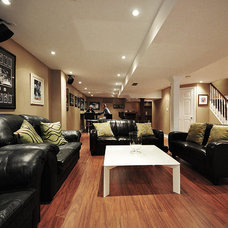 Contemporary Basement by Finished Basement