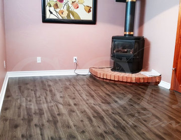 Orangeville - Basement Grey Laminate Flooring