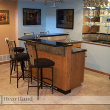 Traditional Basement by Heartland Home Improvements