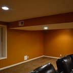 Basement Tv Amp Bean Bags Traditional Basement