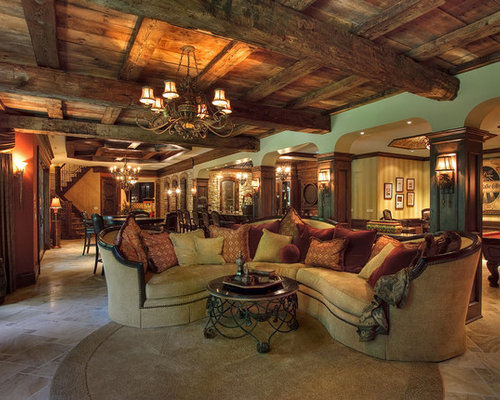 Country chicago basement design ideas pictures for Country basement ideas