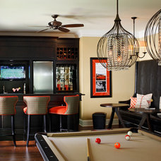 Traditional Basement by Kristin Drohan Collection and Interior Design