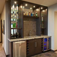 Contemporary Basement by Seine River Cabinets