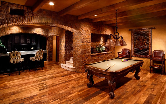 Traditional Basement by Schultz Development Corp