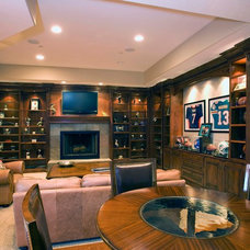 Traditional Basement by Markay Johnson Construction