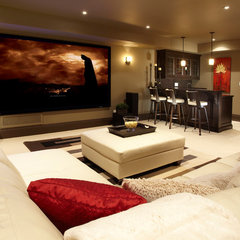 contemporary basement by Parkyn Design