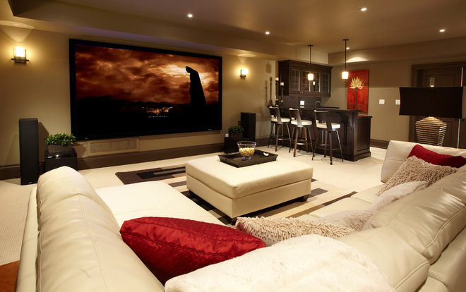 Transitional Basement by Parkyn Design