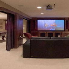 contemporary basement by Assyrian Star Construction Inc