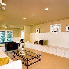 Traditional Basement by Estate Renovations llc