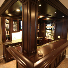 traditional basement by Kitchens by Gregory, Ltd.
