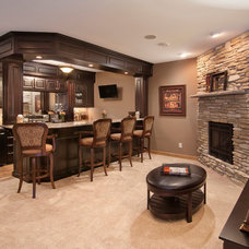 Traditional Basement by College City Design Build