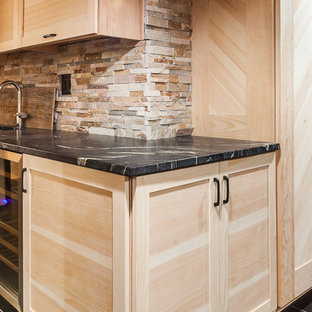 Pine Media Cabinet and Wet Bar in Hinsdale, Illinois