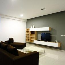 Modern Basement by Biraprana Ciptaguna