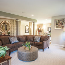 Traditional Basement by Haverford Homes