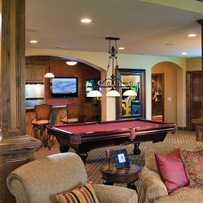 Traditional Basement by House Plans and More