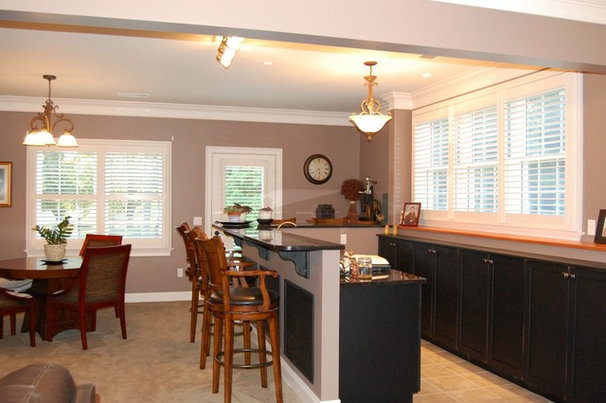 Traditional Basement by Shades IN Place