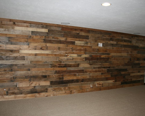Best pallet wood wall design ideas remodel pictures houzz - Rustic wall covering ideas ...