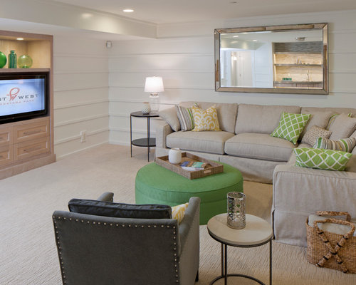 Best Beach Style Basement Design Ideas Remodel Pictures Houzz