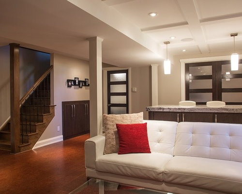 Basement design ideas pictures remodel decor with cork for Is cork flooring good for basements