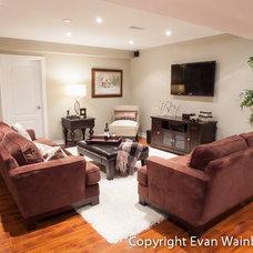 Traditional Basement by Evan Wainberg Toronto Real Estate Photography