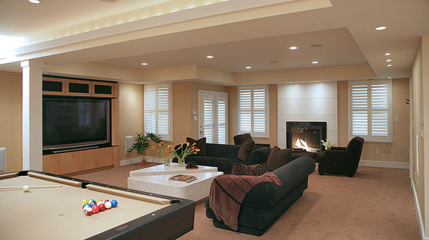 Contemporary Basement by The Alexander Group, Inc.