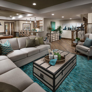 Example of a tuscan basement design in Denver