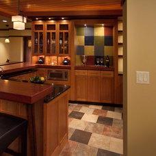 Modern Basement by JALIN Design, LLC