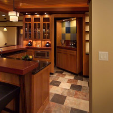 contemporary basement by JALIN Design, LLC