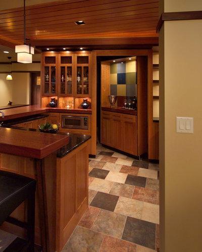 Craftsman Basement by JALIN Design, LLC