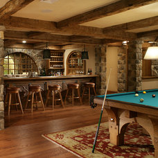 Traditional Basement by J. Costantin Architecture, LLC.