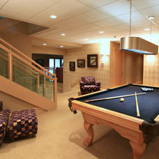 Modern Basement by Platinum Fine Homes & Estates