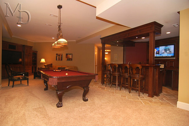 Traditional Basement by Meyer Design
